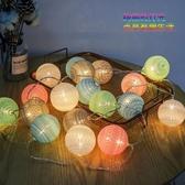 聖誕燈 廠家直銷LED網紅燈韓國棉線球燈串少女心房間室內裝飾燈圣誕節燈