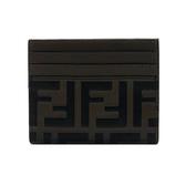 【台中米蘭站】全新品 FENDI FF LOGO 牛皮名片夾(8M0269-咖)