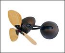 VENTO芬朵吊扇 FINO-CHIC系列 16吋 種子型葉片 仿古色本體 淺木紋色/深木紋色