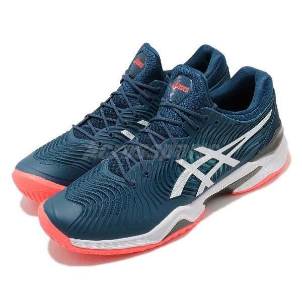 Asics 網球鞋 Court FF 2 藍 紅 男鞋 Novak Djokovic 球王 運動鞋 【ACS】 1041A083400