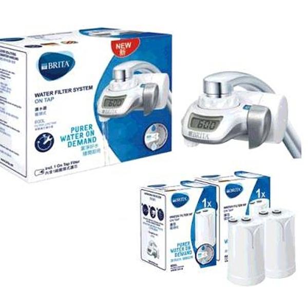 促銷到1月22日 C124974 BRITA ON TAP WATER FILTER 龍頭式濾水器附三入濾芯