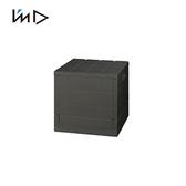 【 岩谷Iwatani 】Grid 格子磚可堆疊摺疊收納椅20L 黑