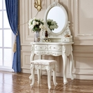 化妝櫃 梳妝台 歐式梳妝台臥室小戶型迷你化妝桌 多功能現代簡約化妝台白色烤漆- DF