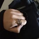 情侶戒指 戒指男潮個性單身戒ins潮食指鈦鋼嘻哈簡約尾戒情侶夸張歐美指環