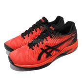 Asics 網球鞋 Solution Speed FF 紅 黑 運動鞋 舒適緩震 輕量 男鞋【PUMP306】 1041A003808