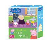 粉紅豬小妹 快樂學習盒 厚紙書一套4入(我的老師、abc、ㄅㄆㄇ、123) Peppa Pig童書~EMMA商城