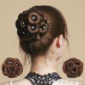 假髮 假髮九朵花帶鉆抓夾丸子頭假髮包花苞頭逼真自然假髮圈盤髮器女 寶貝計畫