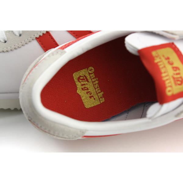 Onitsuka Tiger TIGER CORSAIR 運動鞋 皮質 舒適 白/紅 女鞋 D7J4L-0122 no274