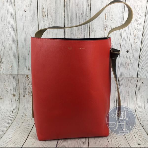 BRAND楓月 CELINE 紅色SMALL TWISTED CABAS 手提包 手拿包 單肩背包