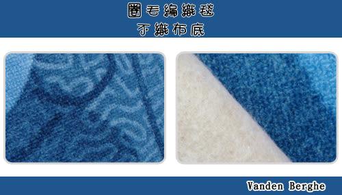 范登伯格 蘭禾圈毛編織地毯-藍-200x260cm