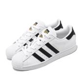 adidas 休閒鞋 Superstar 白 黑 男鞋 女鞋 金標 基本款 小白鞋 運動鞋【PUMP306】 EG4958