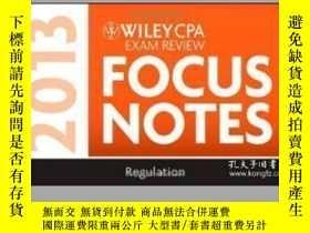 二手書博民逛書店Wiley罕見Cpa Examination Review 2013 Focus Notes Regulation