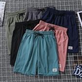 褲子夏季新款薄款男士短褲韓版潮流直筒港風運動褲冰絲速干沙灘褲 【快速出貨】
