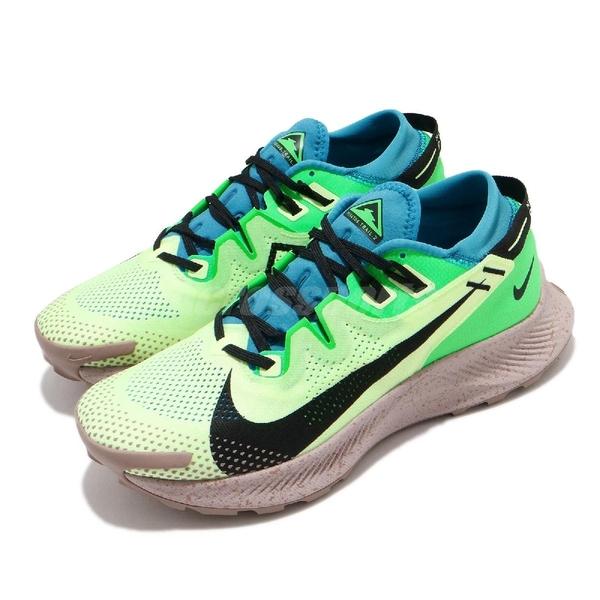 Nike 慢跑鞋 Pegasus Trail 2 綠 黃 男鞋 越野 野跑 戶外 運動鞋【ACS】 CK4305-700