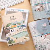 手帳本A6活頁手賬本韓國可愛綁帶創意皮面筆記本子記事本小清新彩霓裳細軟