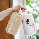 三年二班●文具可愛韓版簡約帆布女生大容量拉錬筆袋小清新文具袋 果果輕時尚