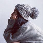 帽子女百搭針織毛線帽日繫秋冬天保暖護耳【極簡生活館】