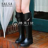 時尚雨靴女高筒成人夏季防滑鎖扣長筒雨鞋