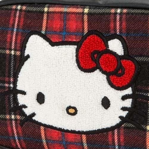 【震撼精品百貨】Hello Kitty 凱蒂貓~Sanrio HELLO KITTY蘇格蘭黑格紋系列毛呢化妝包#06276