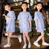 童裝女童夏裝2018新款兒童連身裙