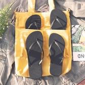 情侶黑色人字拖女涼拖鞋夏夾腳防滑平底跟簡約潮男學生浴室沙灘鞋