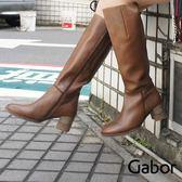 德國GABOR 素面皮革顯瘦長靴 72.836.62 女鞋