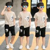 兒童裝男童夏裝套裝 新款中大童棉麻兩件套 LR1816【VIKI菈菈】