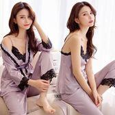 【618好康鉅惠】春款睡衣女2018新款居服套裝冬