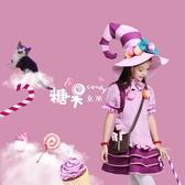 萬圣節兒童服裝女童cos女巫化妝舞會cosplay服飾角色扮演巫婆衣服