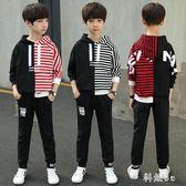 大碼童裝 男童春裝套裝2019新款中大童運動韓版兒童洋氣兩件套小帥氣潮 js24822『科炫3c』