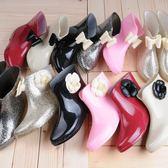 蝴蝶結防滑雨鞋雨靴女(12色)短筒成人防水鞋韓版套鞋時尚膠鞋水靴SX1301