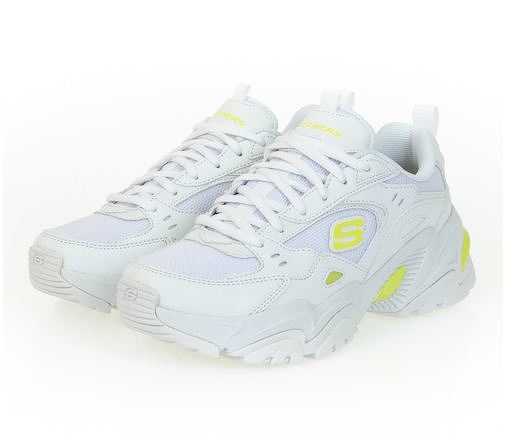 Skechers STAMINA V2-THE RISE UP 女款白黃休閒鞋-NO.149510WLM