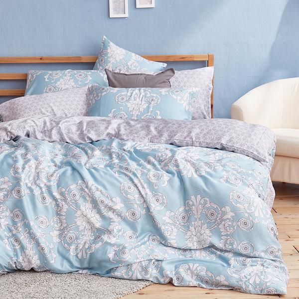 床包被套組 / 雙人【法雅朵】含兩件枕套  100%天絲  戀家小舖台灣製