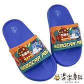【樂樂童鞋】台灣製POLI救援小隊拖鞋-藍 P062-1 - 男童鞋 拖鞋 室內鞋 兒童拖鞋 大童鞋 小童鞋