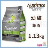Nutrience紐崔斯『 INFUSION天然幼貓 (雞肉)』1.13kg【搭嘴購】