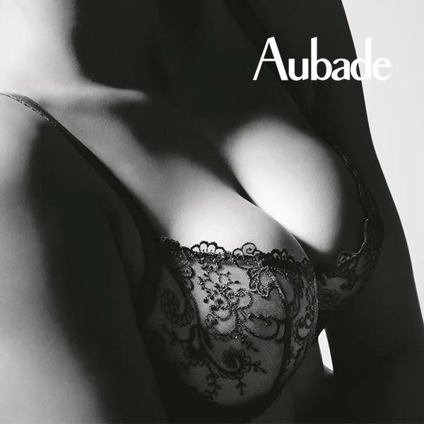 Aubade-愛的迷宮B-D蕾絲有襯內衣(黑)DF