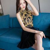 夏季修身顯瘦印花連身裙套裝 東京衣秀
