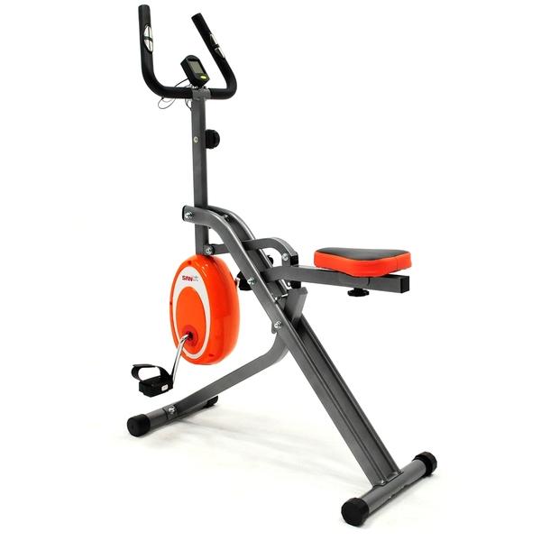 雙核心!!挺腰磁控健身車+微笑深蹲機(騎馬機健腹機健腹器.室內折疊腳踏車推薦【SAN SPORTS】
