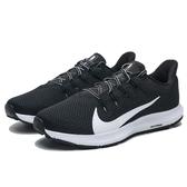 NIKE QUEST2 黑白 輕量 透氣 慢跑鞋 男 (布魯克林) CI3787-002