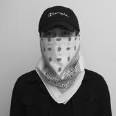 嘻哈街舞頭男運動發帶女麻葉方巾遮面巾騎行
