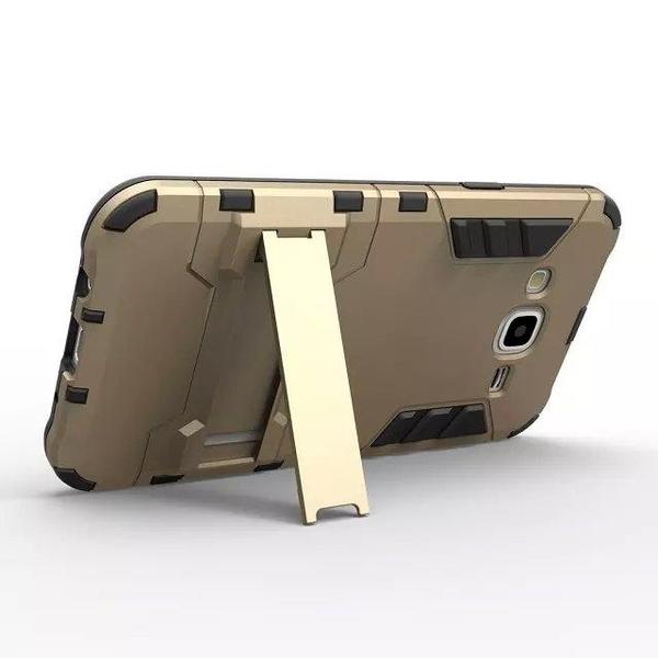 King*Shop~三星J7 J5铠甲手機殼 J500 J7008二合一支架手機殼 J7鋼鐵俠外殼