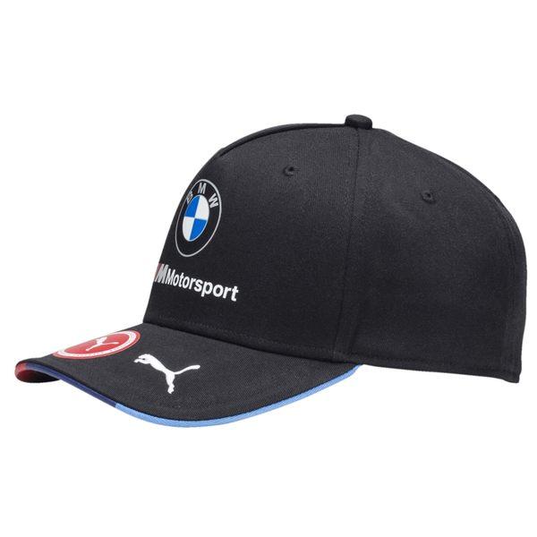 Puma BMW 帽子 運動帽 深藍 老帽 六分割 撞色 網球帽 三色帽簷 運動 硬款 可調整式 02154101