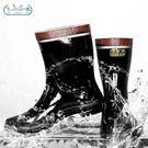 橡膠雨鞋飛鶴牌低腰反光礦工安全煤礦防水防...