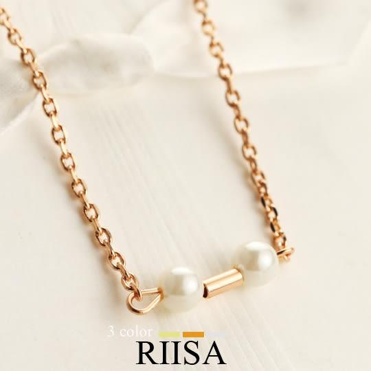 簡約小巧精緻時尚珍珠項鍊-3色