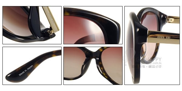 Anna Sui 太陽眼鏡 AS1004 C127 (琥珀-金) 知性簡約微貓眼款 # 金橘眼鏡