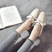 小皮鞋女潮秋季新款韓版百搭低跟復古粗跟英倫單鞋樂福鞋 韓慕精品