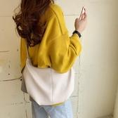 韓國春夏新款復古極簡褶皺餃子包INS女包潮百搭單肩包斜跨牛角包 後街五號