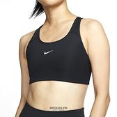 NIKE 運動內衣 SWOOSH BRA 黑 小LOGO 中度支撐 一片式胸墊 訓練 女 (布魯克林) BV3637-010