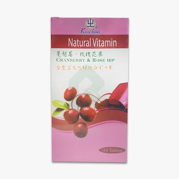 凱全 蔓越莓玫瑰果實C+E 120粒【瑞昌藥局】011522 維他命C
