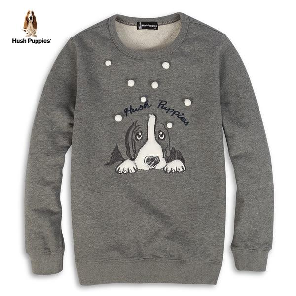 Hush Puppies 上衣 女裝立體毛球長毛刺繡狗上衣